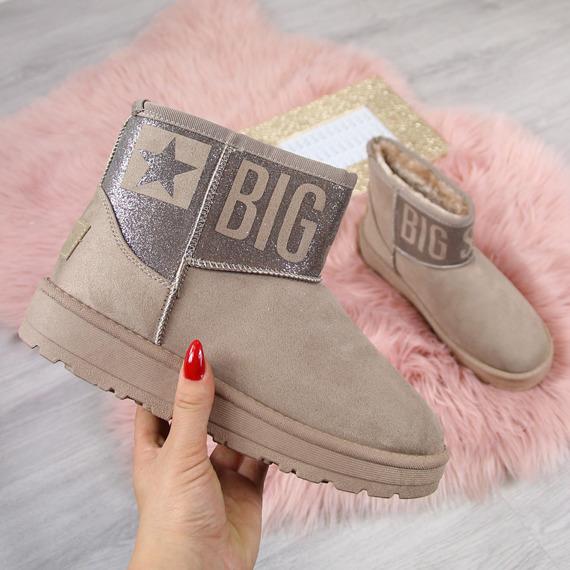 Śniegowce damskie mukluki beżowe Big Star  EE274265