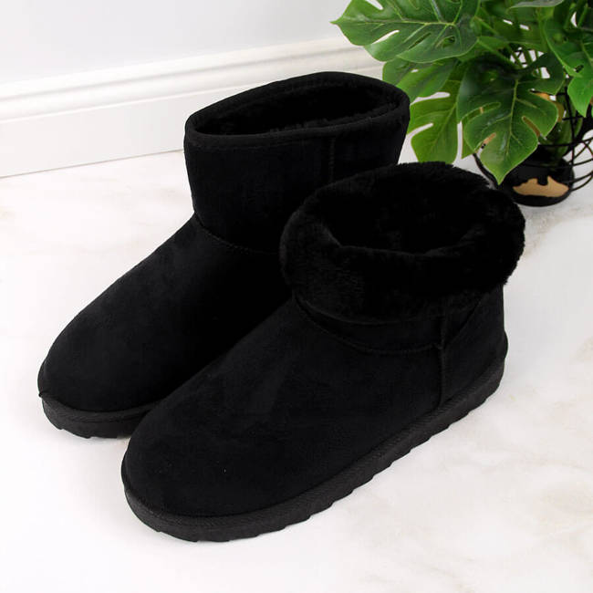 Śniegowce damskie mukluki na platformie czarne Vinceza