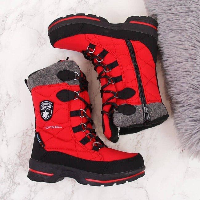 Śniegowce wodoodporne dziewczęce czerwone American Club