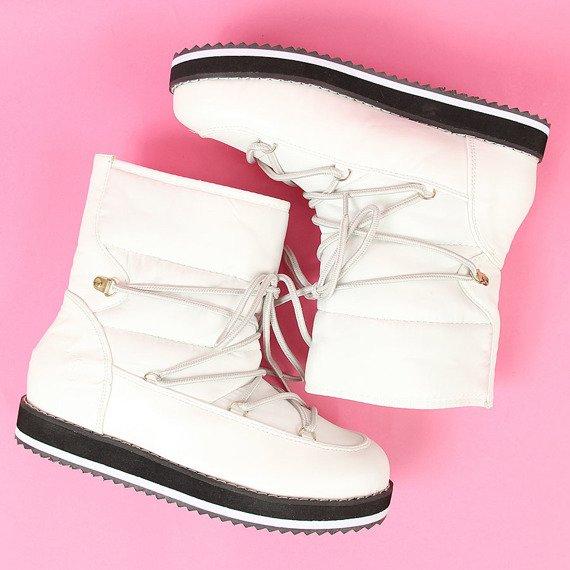 Śniegowce wsuwane białe Vices