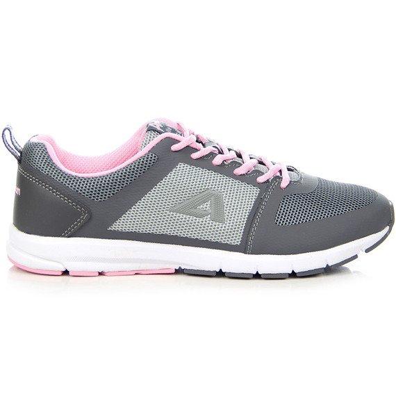 Szaro różowe buty sportowe lekkie fitness American Club