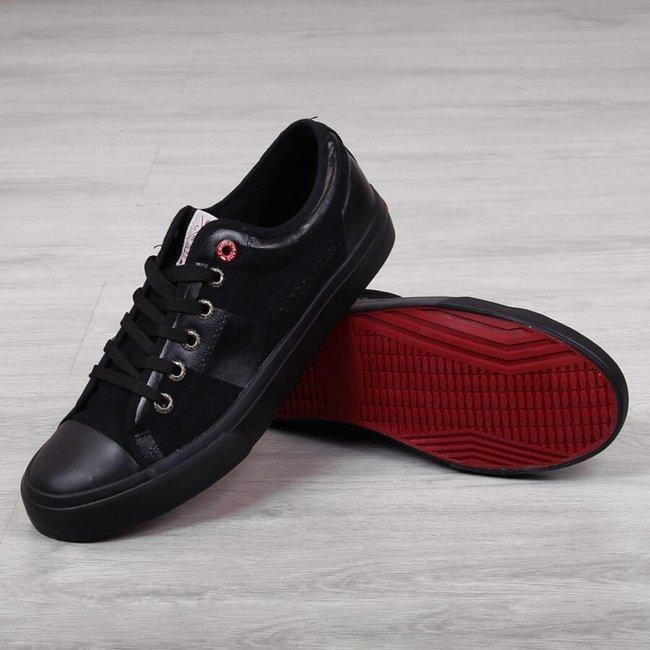 Tenisówki męskie tekstylne czarne Cross Jeans FF1R4019C
