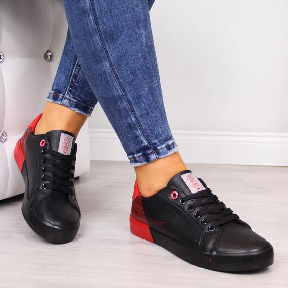 Trampki damskie niskie czarne Cross Jeans