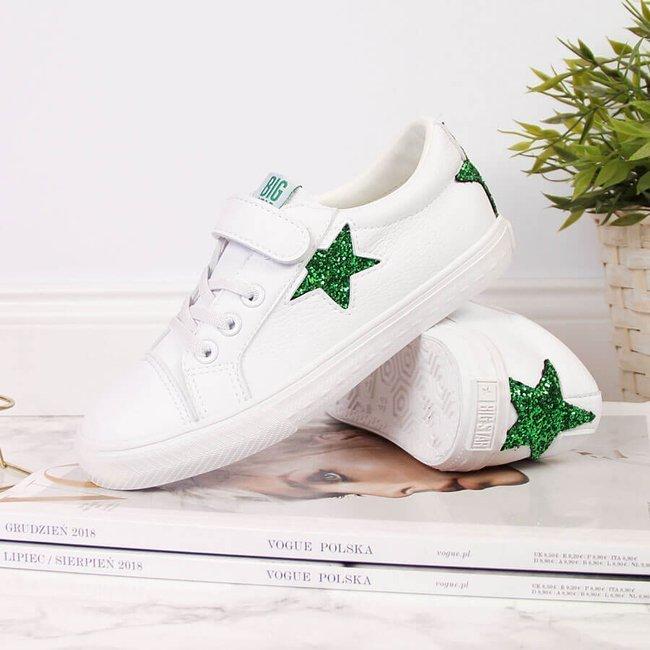 Trampki dziecięce z eko skóry białe Big Star DD374103