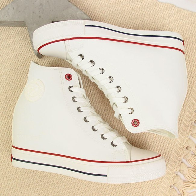 Trampki na koturnie białe Cross Jeans II2R4024C