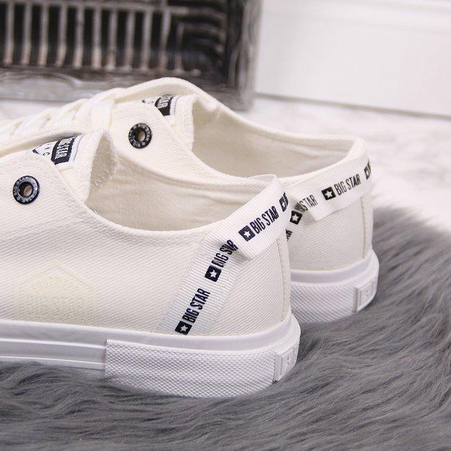 Trampki niskie tekstylne białe Big Star FF274206