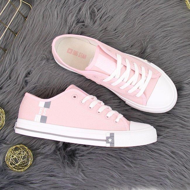 Trampki niskie tekstylne różowe Big Star HH274110