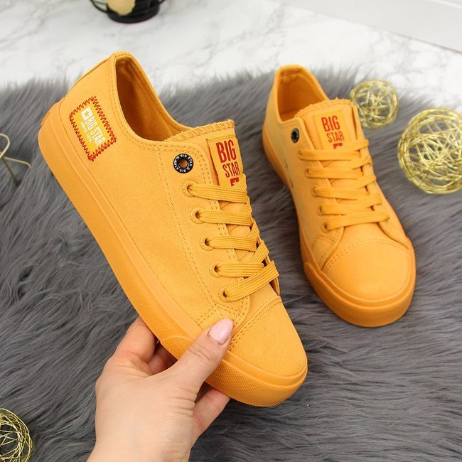 Trampki niskie tekstylne żółte Big Star HH274134